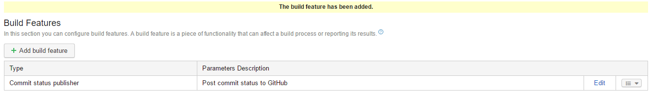 TeamCity Build Status Success
